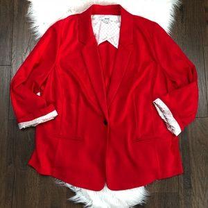 Kensie Red Stretch Blazer Jacket